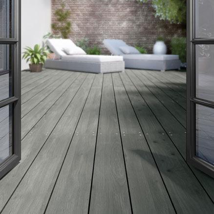 Suelos de madera para exterior leroy merlin for Suelo composite exterior