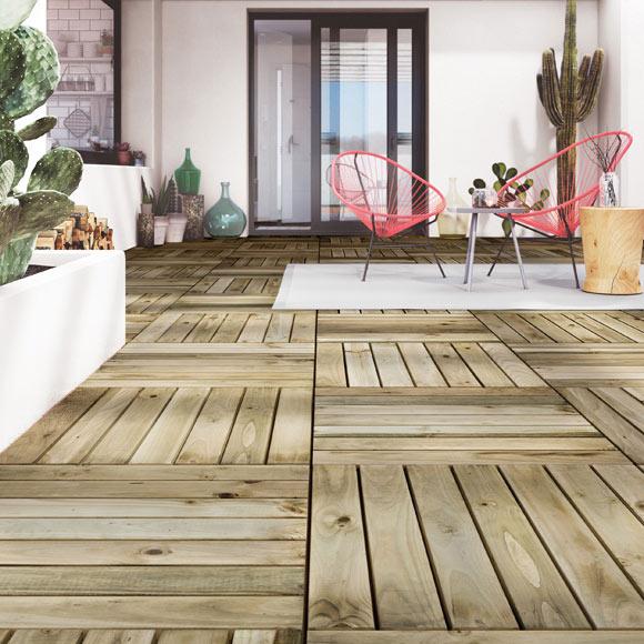 Baldosas de madera para jardin excellent precio de - Precios baldosas exterior ...