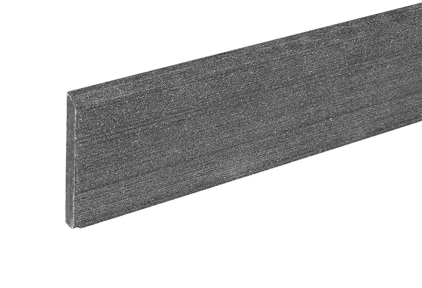 Perfil composite naterial gris antracita 7 6x240 cm ref for Suelos de resina para exterior