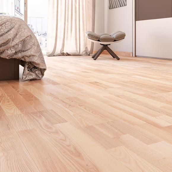 Suelo de madera aero fresno ref 14988001 leroy merlin - Tipos de suelos de madera ...