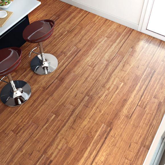Suelo de madera premium bamb strong cafe ref 17928085 - Suelos de madera leroy merlin ...