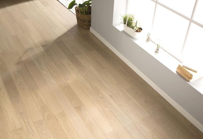 Suelo de madera basic roble blanco ref 18043662 leroy - Suelos de roble ...