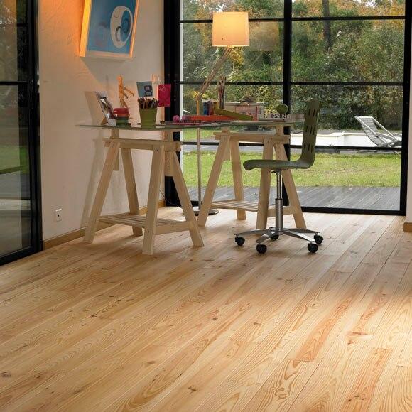 Suelo de madera pino natural nudos l ref 12883402 leroy - Suelo de madera ...