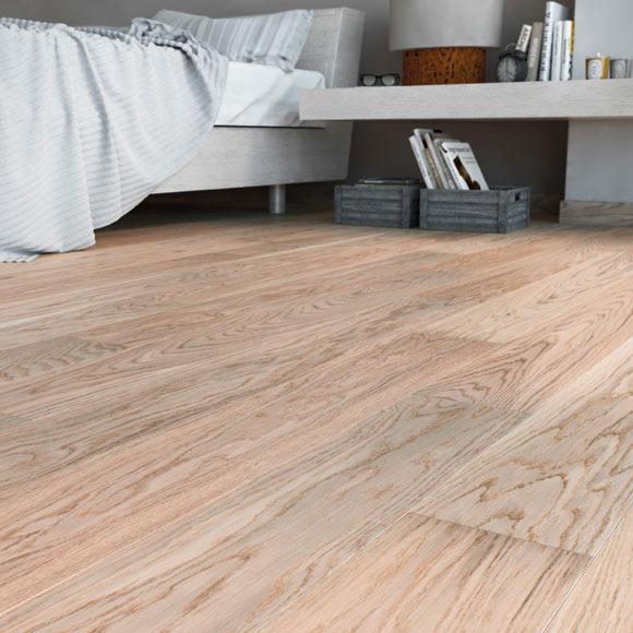 Suelo de madera line roble blanco ref 18043683 leroy merlin - Suelos de madera leroy merlin ...