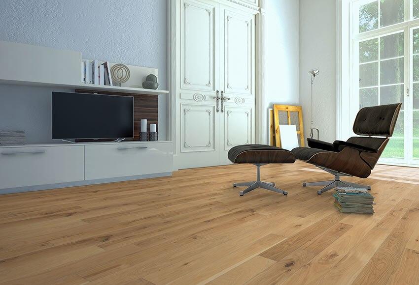 Suelo de madera roble natural ref 81874636 leroy merlin - Suelos de madera leroy merlin ...