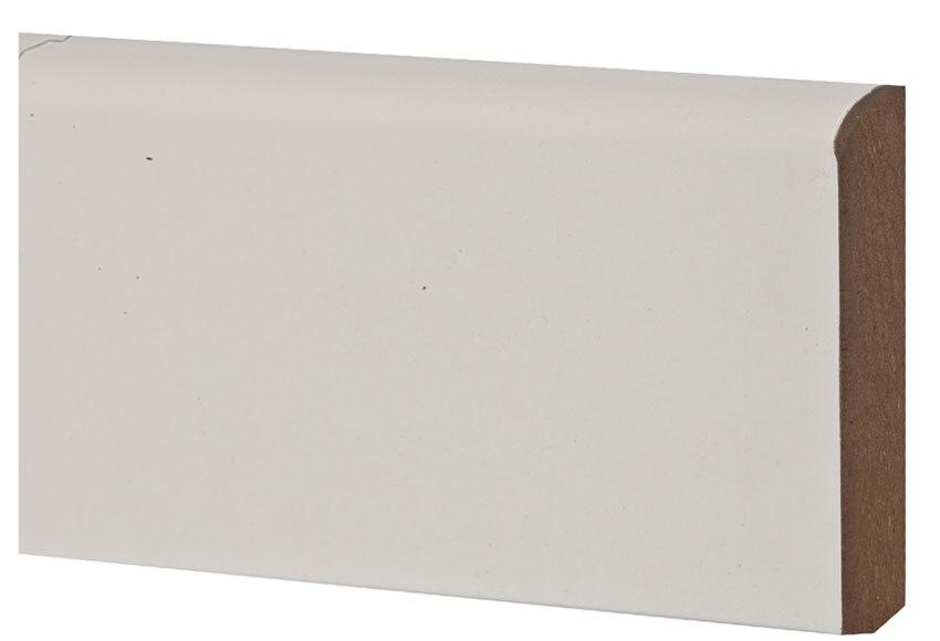 Rodapi mel blanco ref 15085371 leroy merlin for Rodapie pvc blanco