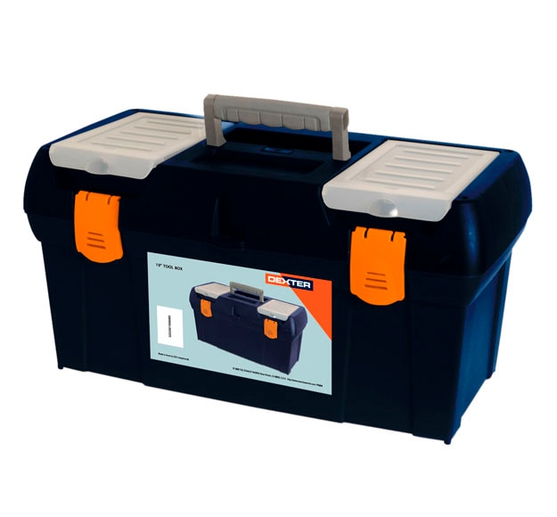 Caja de herramientas dexter 2 95 606 ref 14189441 leroy - Cajas para guardar herramientas ...