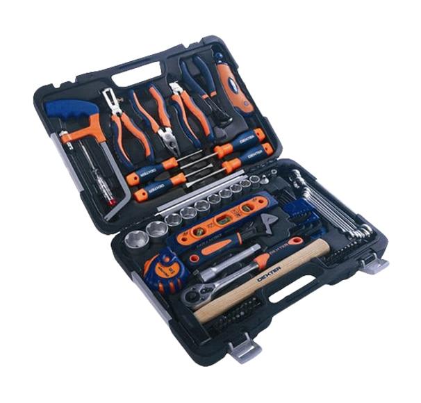 Malet n de herramientas de mano dexter 75 piezas ref - Maletin de aluminio para herramientas ...