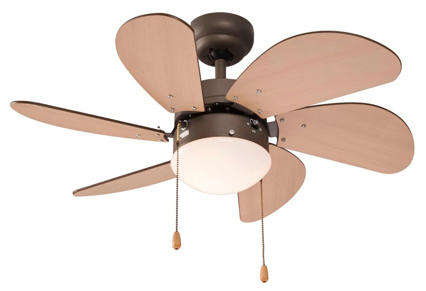 Ventilador de techo con luz inspire comores ref 14956431 - Lampara ventilador leroy merlin ...