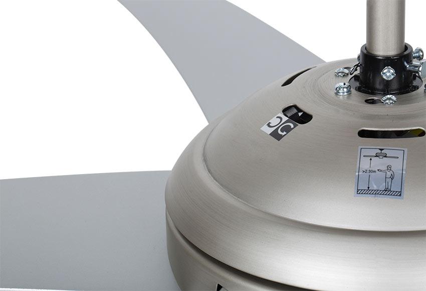 Ventilador de techo con luz inspire ceylan ref 14956550 for Leroy merlin ventiladores