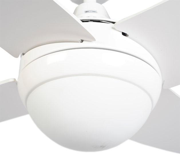Ventilador de techo con luz sulion albatros blanco ref - Ventiladores techo leroy ...