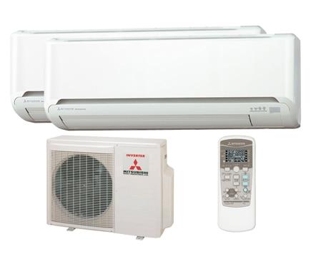 Aire acondicionado fijo mitsubishi 2x1 zj ref 12833555 for Aire acondicionado 2x1
