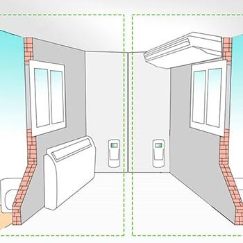Aire acondicionado por conductos y cassettes leroy merlin for Plafones de techo y pared