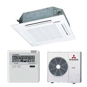 Aire acondicionado por conductos y cassettes leroy merlin for Temperatura ideal aire acondicionado invierno