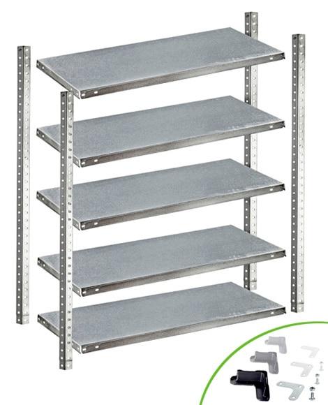 Casas cocinas mueble estanteria metalica leroy merlin - Estanterias modulares metalicas ...