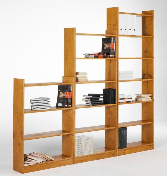 Estanter a mediana serie pino gala miel ref 15061984 - Leroy merlin estanterias decorativas ...