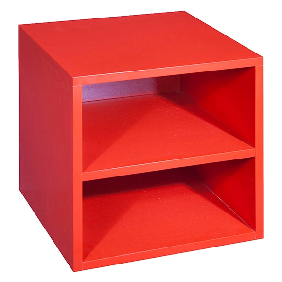 Estanter a baja serie trendy rojo ref 15969625 leroy merlin - Leroy merlin estanterias decorativas ...