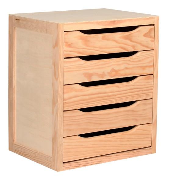 Cajonera decobloc ref 13909133 leroy merlin - Muebles de madera en crudo ...