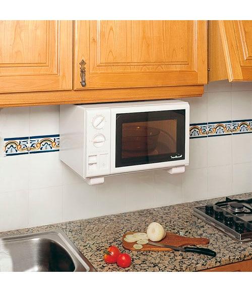 Dos soportes microondas caribe blanco ref 10430000 - Soportes para microondas ...