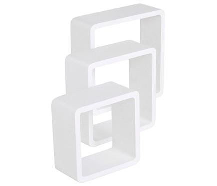 Serie cubos blanco 10cm spaceo serie cubos blanco 10cm ref for Mensole cubo leroy merlin