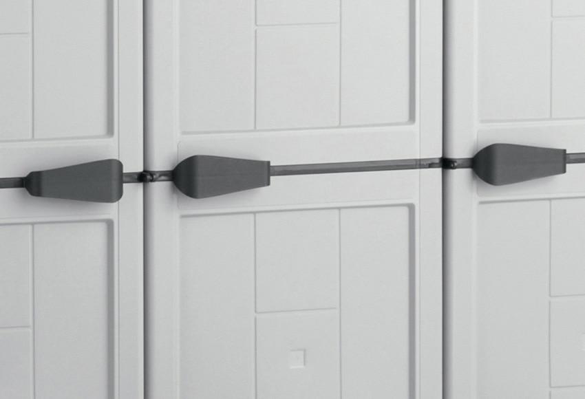 Armario alto con baldas jolly 166x103x39cm ref 14408702 - Armario resina leroy merlin ...