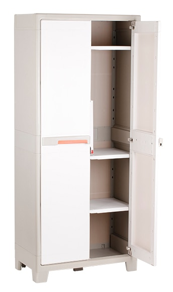 Armario escobero spaceo premium 182x80x44cm ref 16306136 - Casetas de resina leroy merlin ...