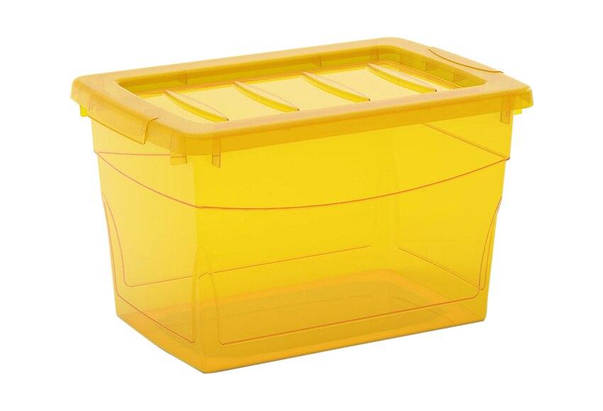 Caja de pl stico amarilla omnibox ref 14056231 leroy merlin for Leroy cajas ordenacion
