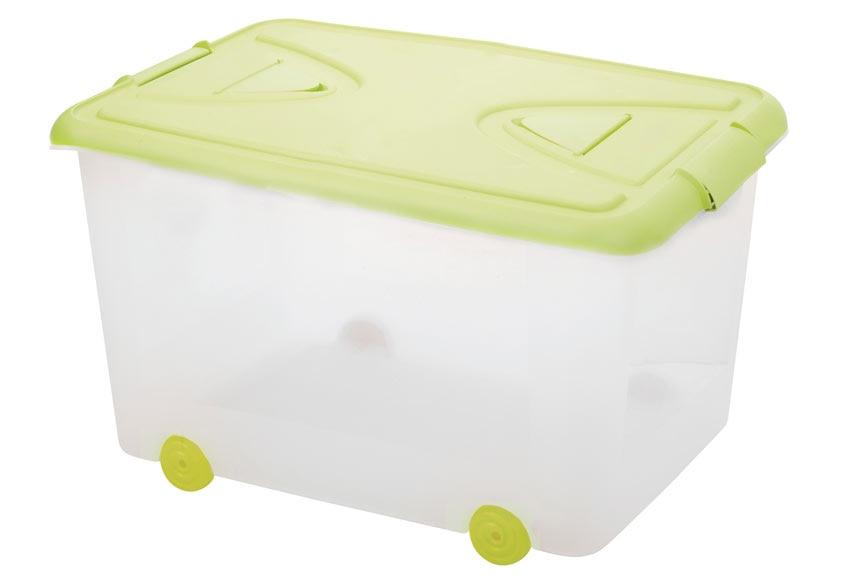 Caja con ruedas color ref 14542815 leroy merlin for Cajas plasticas con ruedas