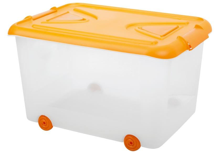 Caja con ruedas color ref 14542836 leroy merlin - Cajas de plastico con ruedas ...
