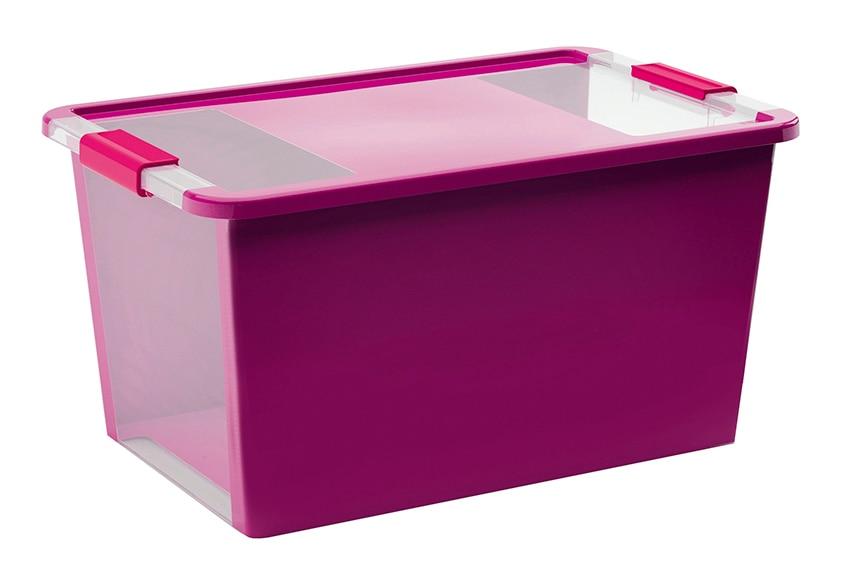 Caja de pl stico violeta bibox ref 15005025 leroy merlin for Cajas de plastico transparente