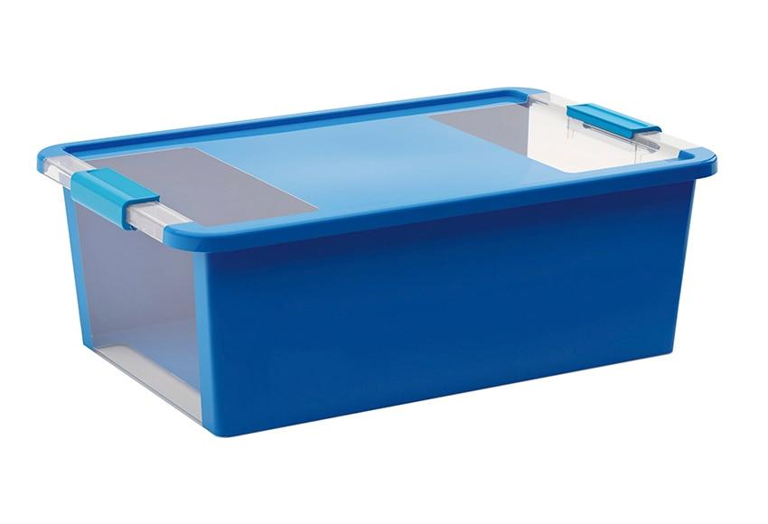 Caja de pl stico azul bibox ref 15880291 leroy merlin for Leroy cajas ordenacion