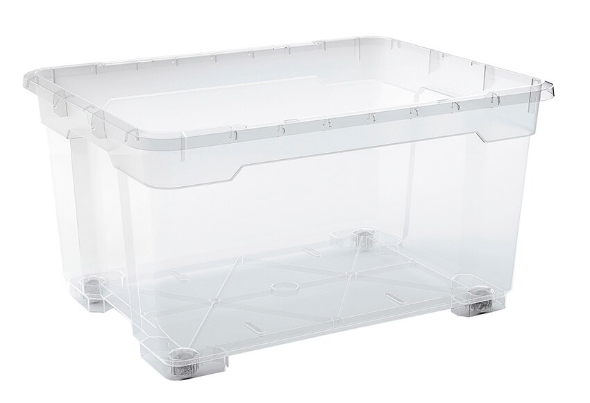 Caja multiusos con ruedas r box ref 15880410 leroy merlin for Cajas almacenaje leroy merlin