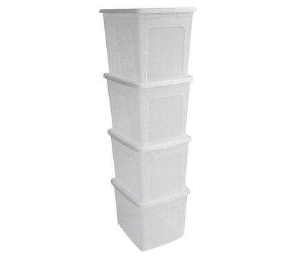 Lote de 4 cajas de pl stico ref 17096975 leroy merlin for Leroy cajas ordenacion