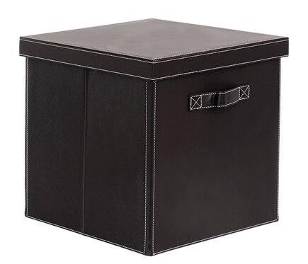 Cesta de polipropileno caja pvc estilo cuero 32x32x32 cm - Cajas de polipropileno ...