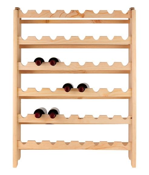 Botellero de madera pino s b sotoa 48 botellas ref - Leroy merlin botellero ...