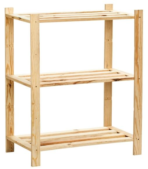 Estanter a de madera plus ref 14110845 leroy merlin - Estanterias pequenas de madera ...