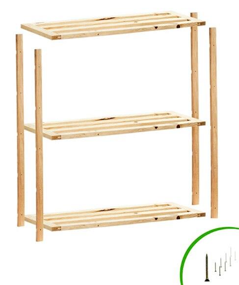 Estanter a de madera plus ref 14110845 leroy merlin - Estanterias ninos leroy merlin ...
