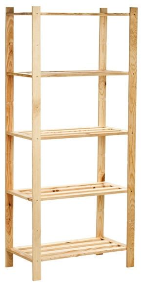 Estanter a de madera plus ref 14110873 leroy merlin - Estanterias modulares de madera ...