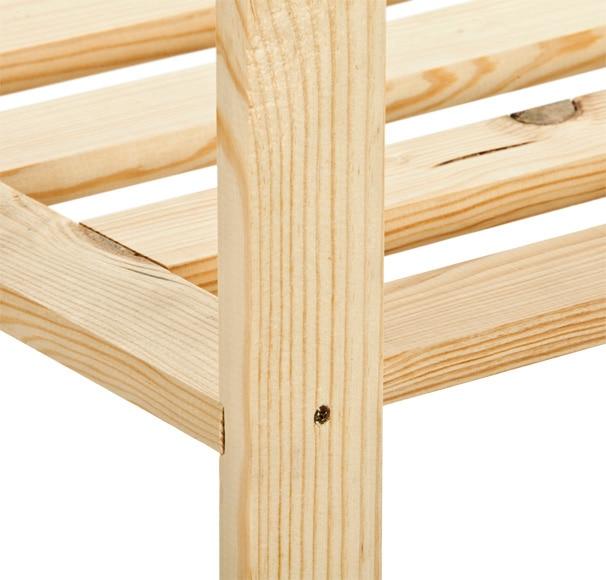 Estanter a de madera plus ref 14110873 leroy merlin - Estanterias modulares madera ...
