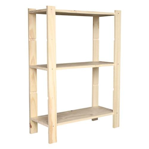 Estanterias madera blanca materiales de construcci n - Estanterias blancas de madera ...