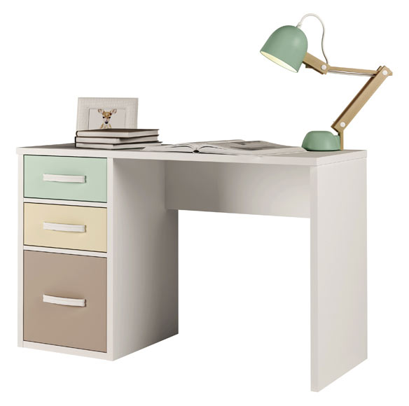 mesa de estudio con 2 cajones y 1 puerta espesor 25 mm