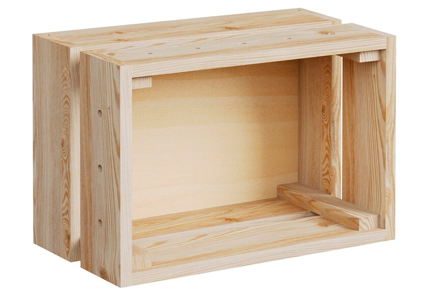 Caja modular espesor 80x15 mm serie home box ref - Caisse en bois leroy merlin ...