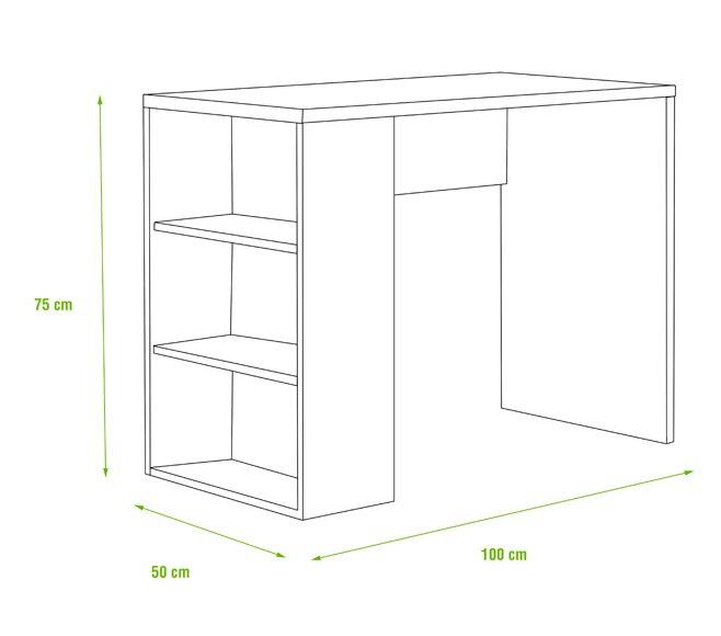 Mesa de estudio con estanter a 1x3 espesor 16 mm serie for Mesas estudio leroy merlin