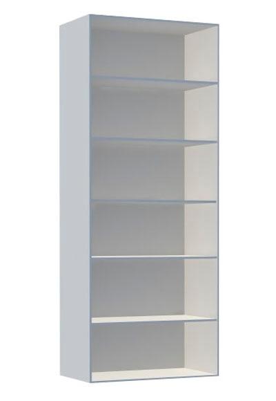 Estanter a alta 1x6 espesor 16 mm spaceo serie prekit - Leroy merlin estanterias modulares ...