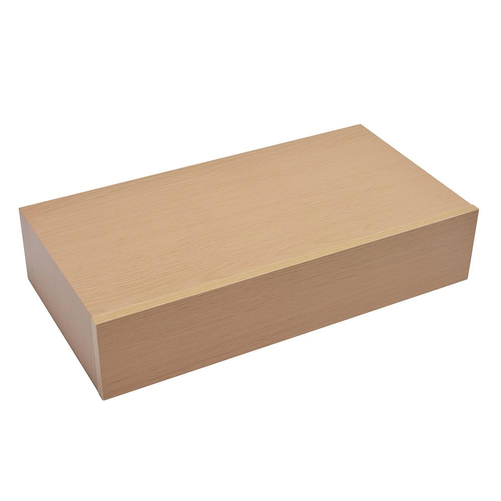 Estante de pared recto caj n ref 17471552 leroy merlin for Cajas de madera aki