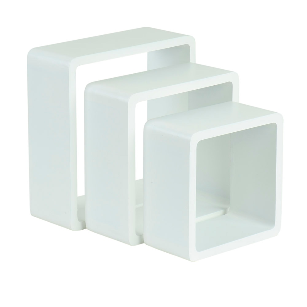 Estante de pared en forma de cubo spaceo cantos curvos ref for Cubo basura leroy merlin
