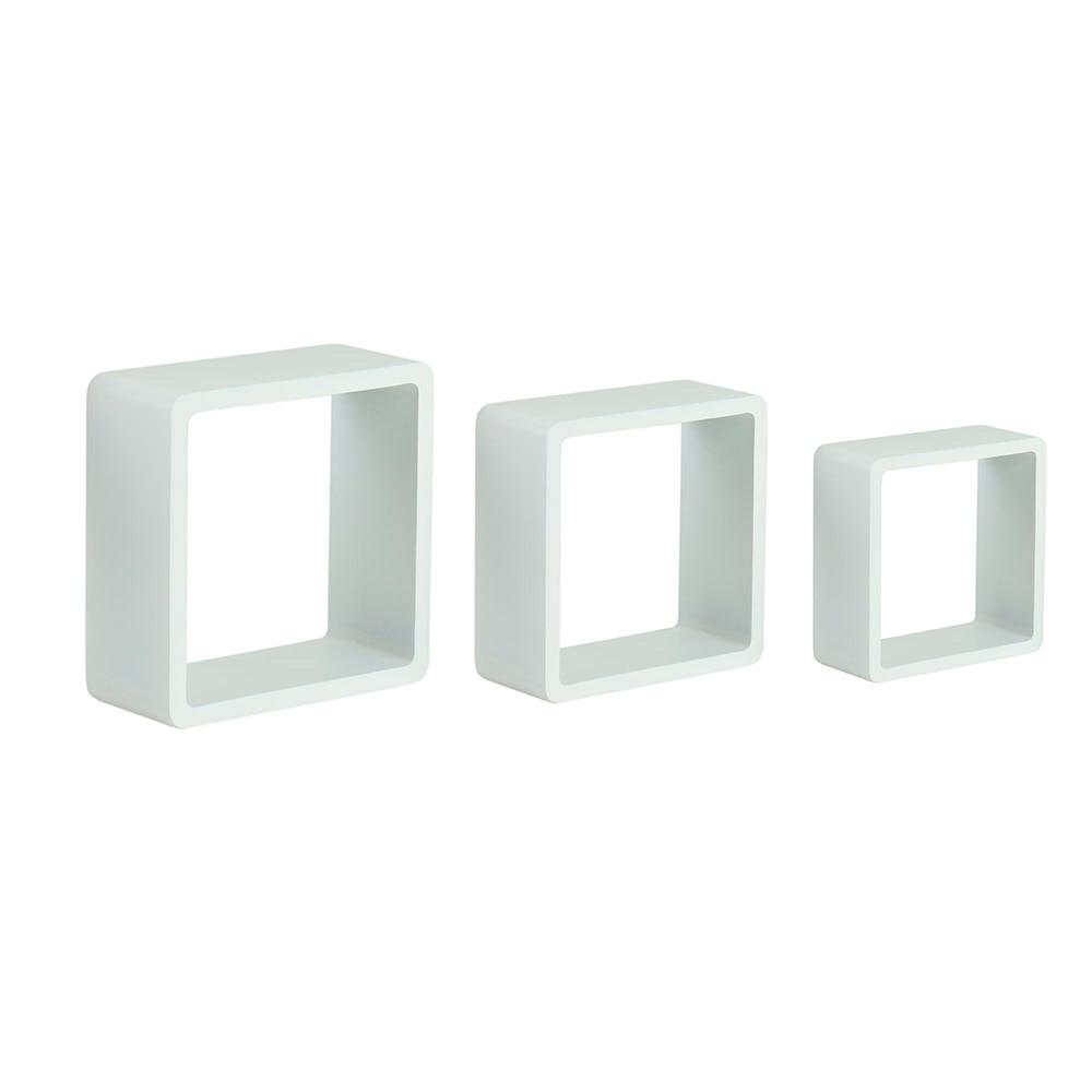 Estante de pared en forma de cubo spaceo cantos curvos ref - Estanteria cubo ikea ...