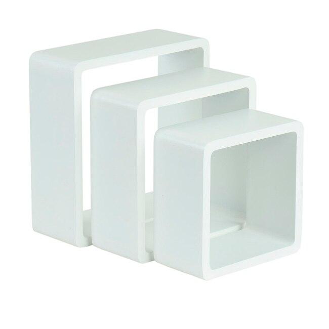 Estante de pared en forma de cubo spaceo cantos curvos ref for Mensole cubo leroy merlin