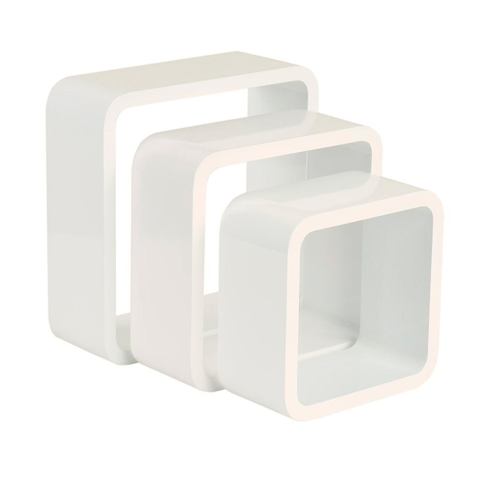 Estante de pared en forma de cubo spaceo cantos curvos ref - Estanterias de colores ...