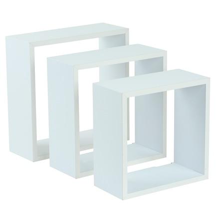 Estante de pared en forma de cubo cantos rectos ref for Mensole cubo leroy merlin